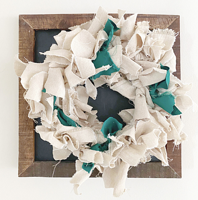 Easy and Inexpensive Rag Wreath