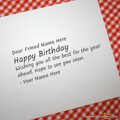 Happy Birthday Wises Cards For friends: wishing you all the for the year ahead