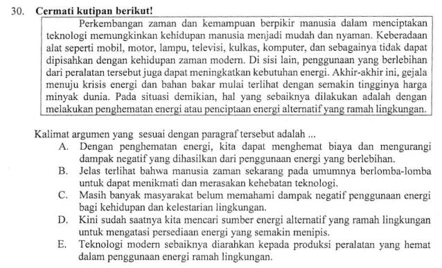 Kalimat Argumen Zuhri Indonesia