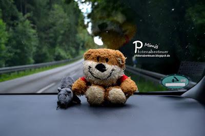 Bär und Ratte fahren Auto