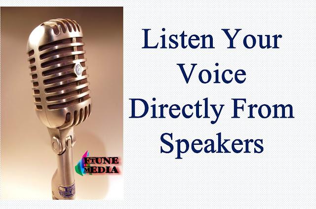 mic to speakers