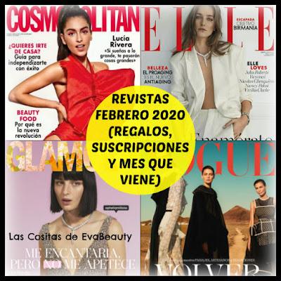 Revistas Febrero 2020 (Regalos, Suscripciones y mes que viene)