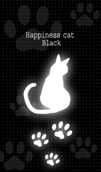Happiness cat black