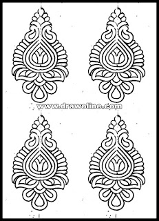 Beautiful Embroidery saree design paper, simple Embroidery flower butta design on paper,