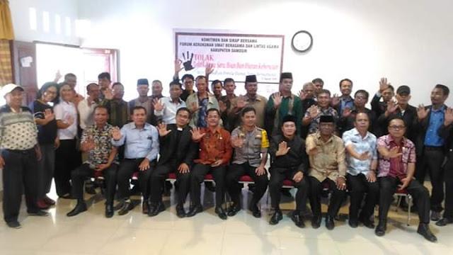 Sukseskan Pemilu 2019, Pemkab Samosir Adakan Pembinaan Toleransi dan Kerukunan Beragama