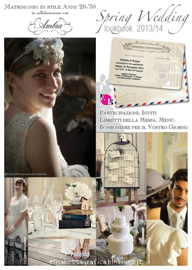 Partecipazioni Matrimonio Anni 30.Elisabetta Grafica Wedding Stile Anni 20 30