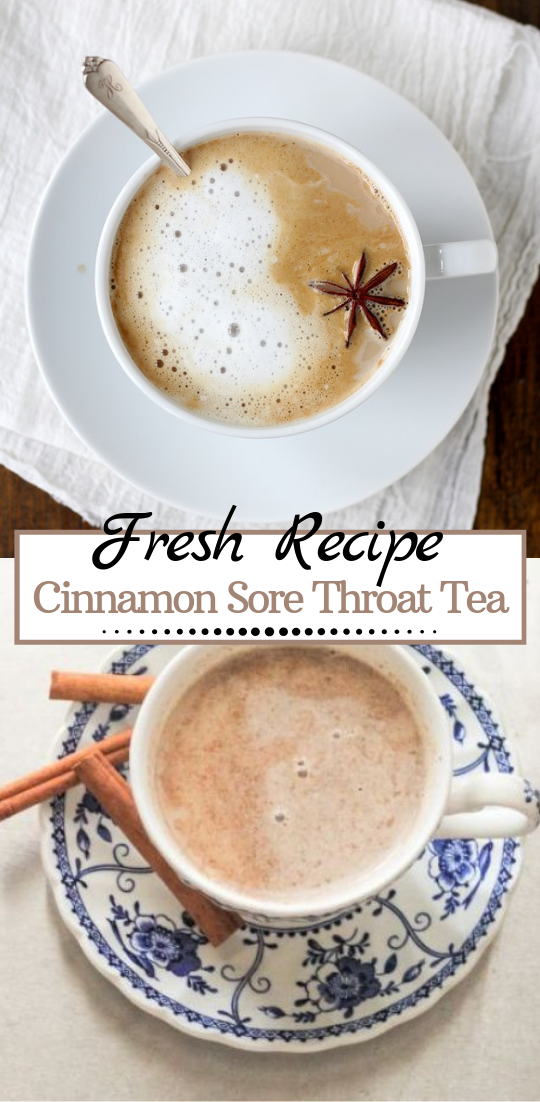 Cinnamon Sore Throat Tea  #healthydrink #easyrecipe #cocktail #smoothie