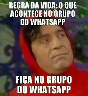 fica no grupo do whatsapp