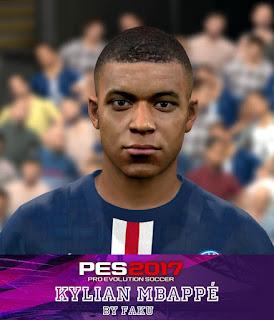 PES 2017 Faces Kylian Mbappe by Faku