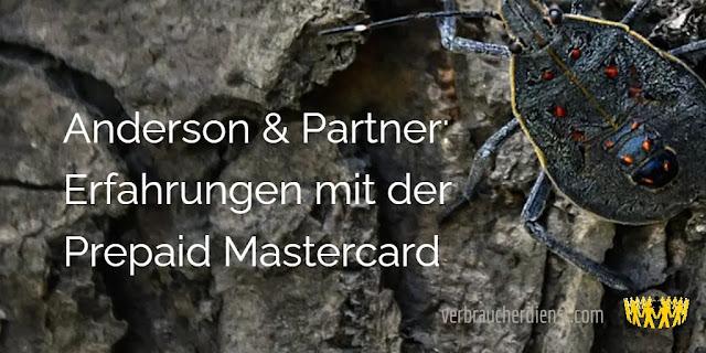 Titel: Anderson & Partner – Erfahrungen mit der Prepaid Mastercard