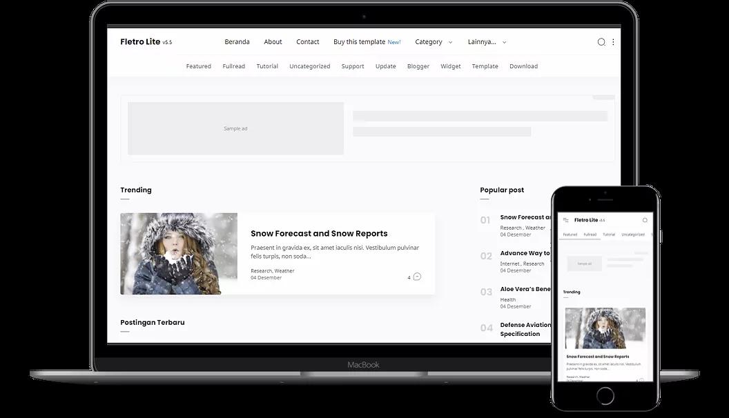 Fletro Lite v5.5 Elegant Premium Blogger Template Download For Free