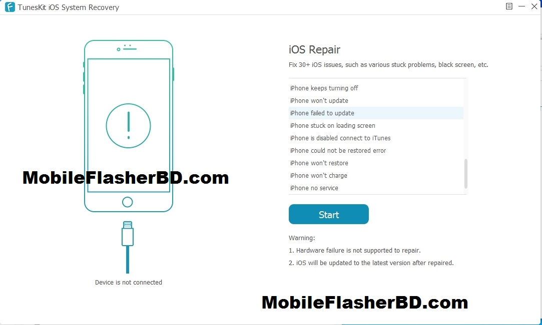 Download TunesKit iOS System Recovery 2.3.0.18 With Keygen Latest Unlock Tool Free Download