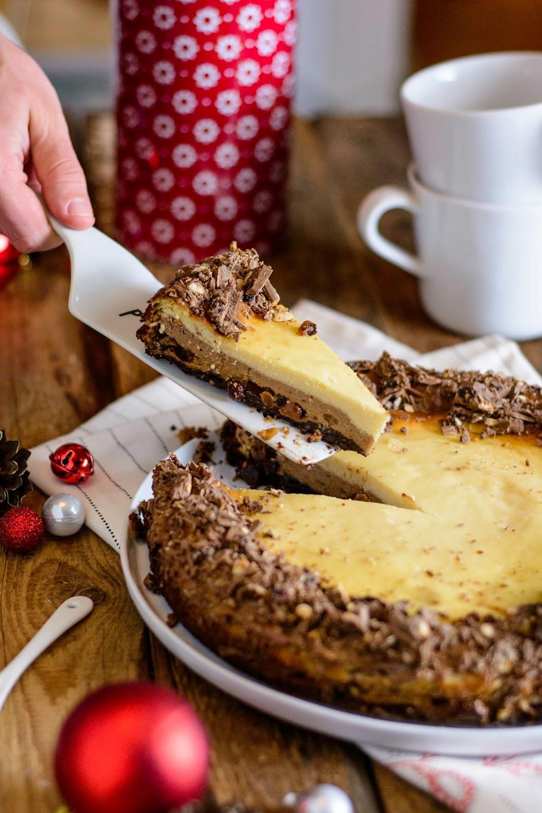 Rum-Traube-Nuss Cheesecake mit Schokoladenboden, Rittersport, Rezept, Schokolade, Käsekuchen, Ina Is(s)t, Blog