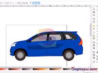 Membuat Vektor Mobil Toyota Avanza dengan Inkscape