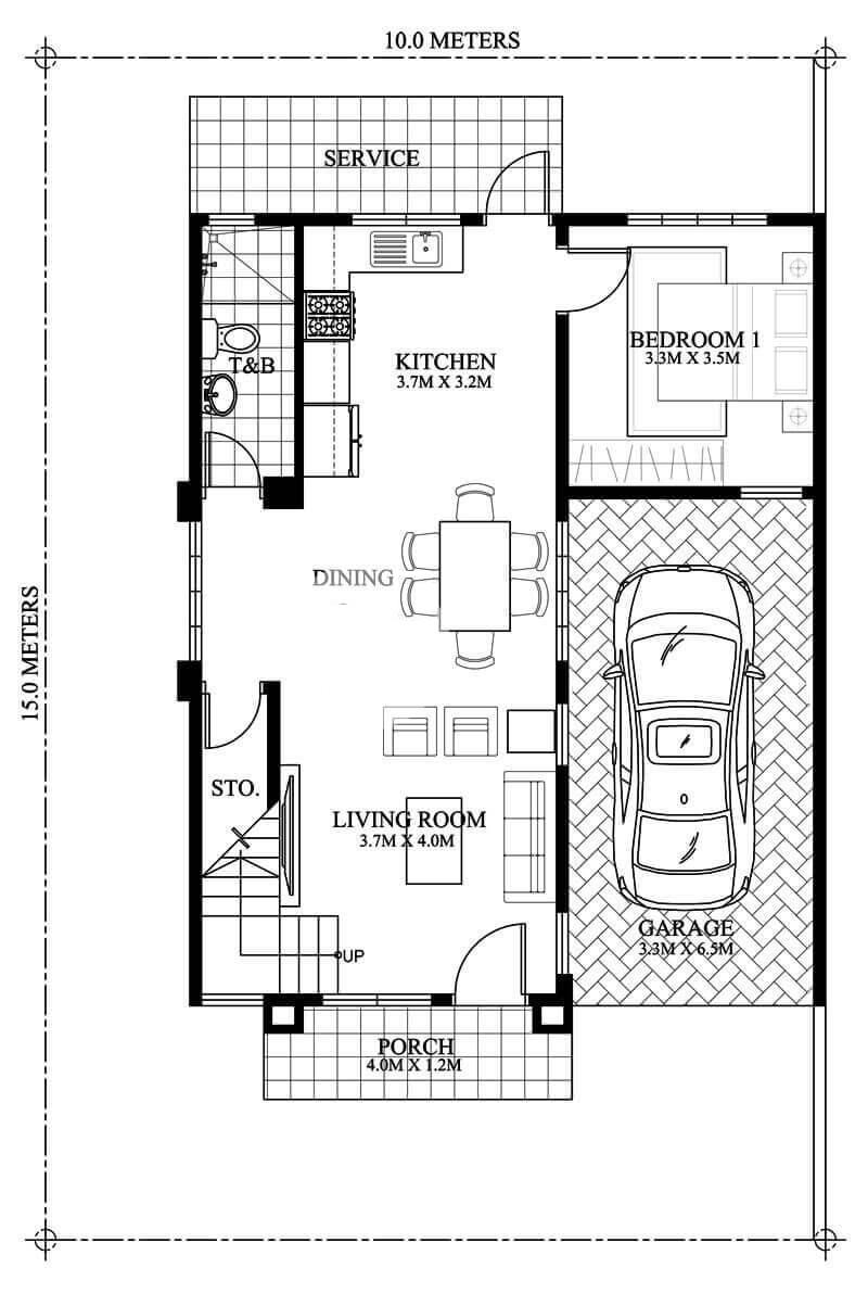 Plan maison 150 m2 de 2 étage avec 4 chambres   Site spécialisé dans l'ingénierie civile, l ...