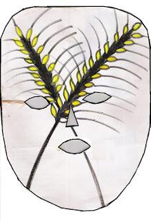 Páscoa máscara de trigo