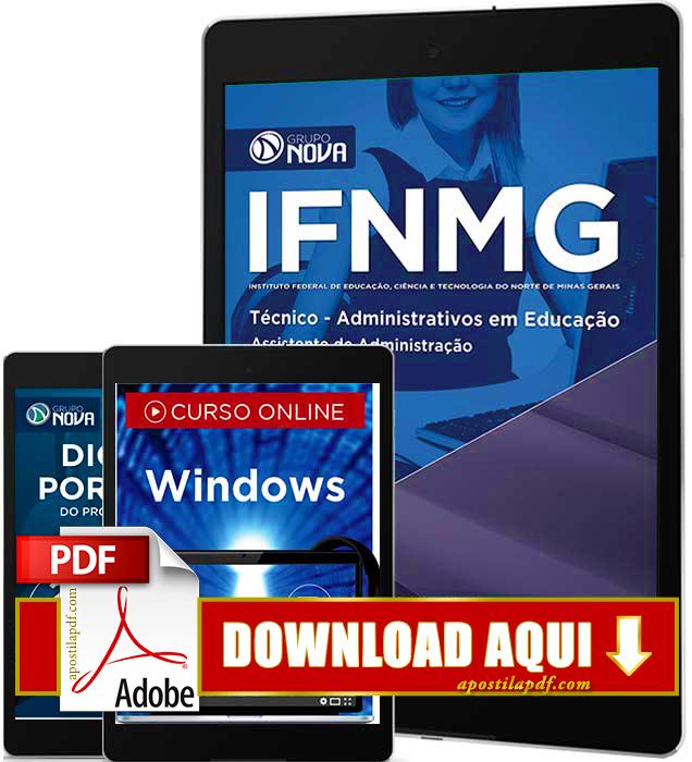 Apostila IFNMG 2016 Assistente em Administração PDF Download