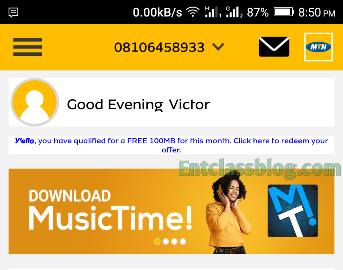 How To Activate Free MTN 100MB Staggered Data On MyMTN App
