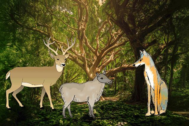 El Ciervo y la Oveja, siendo Juez el Lobo Jose Agustín Ibáñez de la Renteria