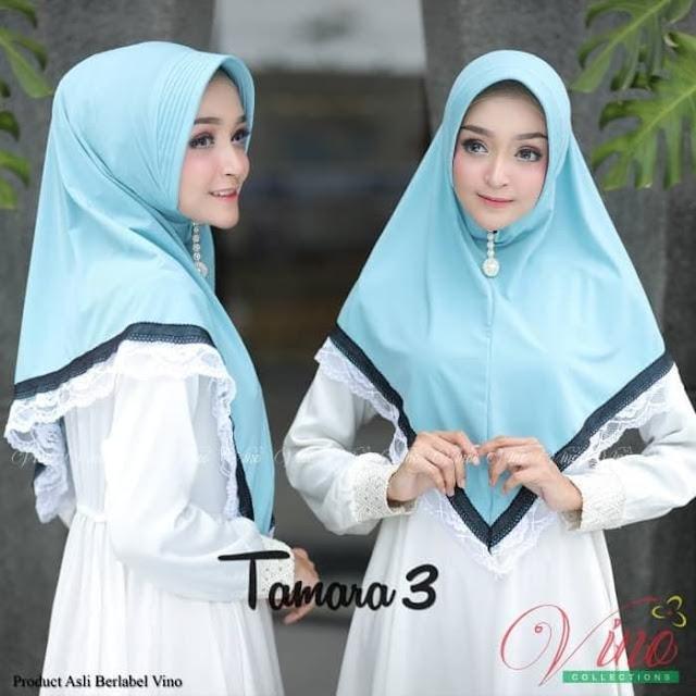 Jilbab Khimar Vino Tamara 3 Hijab Panjang Syari Murah
