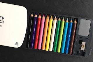 Mini colour pencil in rainbow shade