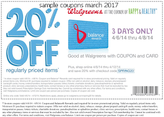 Walgreens coupons for march 2017