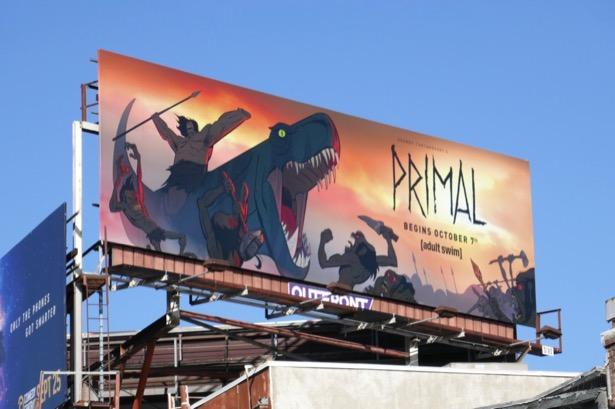 Primal series premiere billboard