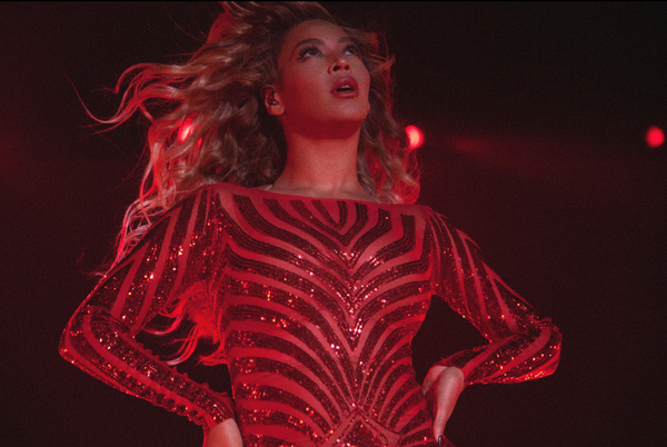 Beyonce performing at the vegas private show where she reportedly earned $6m