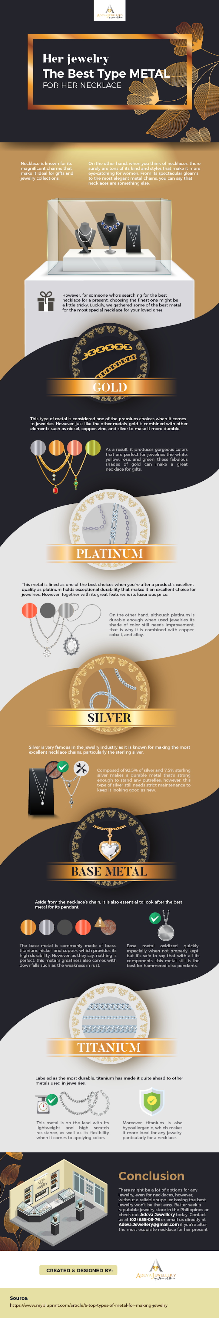Her Jewelry The Best Metal for Her Necklace #infographic