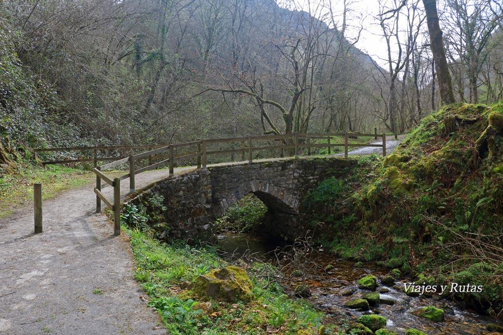 Puente de Piedra, ruta del Chorrón, Asturias