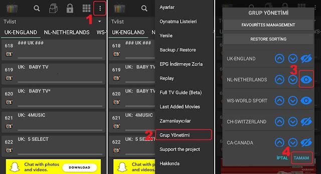 Iptv kanal sıralama ( IPTV Extreme )