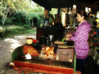 Fátima Cozinhando no Parque das Cachoeiras, Vacaria