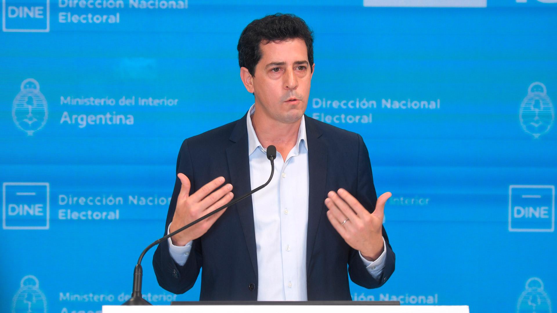 Wado De Pedro destacó la participación electoral y aseguró que podría haber resultados oficiales a las 21