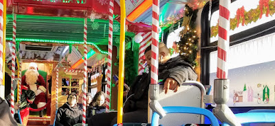 Uptown Update Cta S Holiday Bus Travels Through Uptown