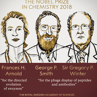 nobel kimia 2018 frances h arnold greg p smith sir gregory p winter