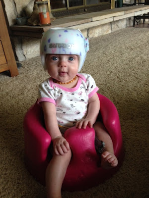 Sutton in her helmet
