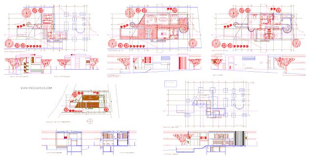 Three-storey villa with foundations