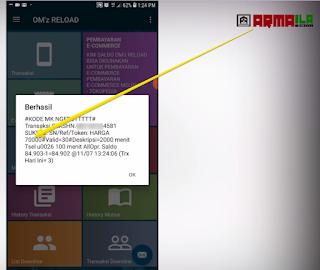 Cara Isi Pulsa Paket Nelpon Telkomsel 2100 Menit pengecekan harga berhasil.png