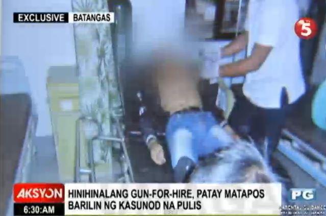 Off duty hero cop shots hired killer dead video