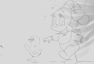 risco minnie baby com patinha
