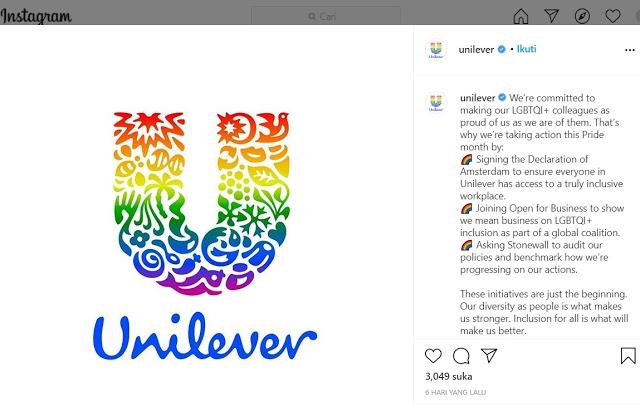 Heboh Unilever Terang-terangan Mendukung L68T, Bergema Seruan Boikot