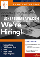 We Are Hiring at CV. Jaya Arta Prima Surabaya Oktober 2020