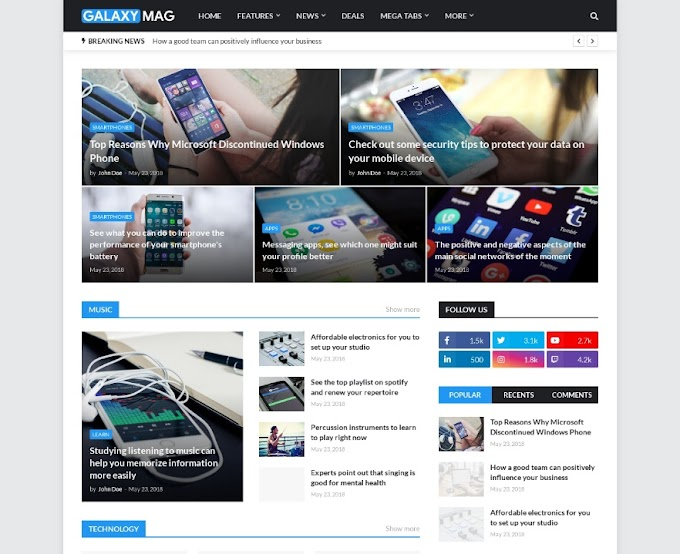 Review tentang Galaxy Mag Blogger Template