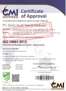 Sertifikat Persetujuan PT Givro Multiteknik Perkasa