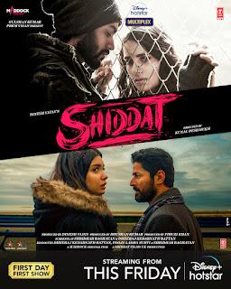 Download Shiddat (2021) Full Hindi Movie 480p HDRip 450MB