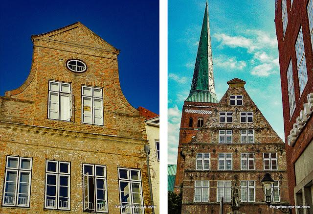 Fachadas típicas de Lübeck, Alemanha