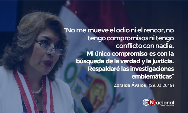 Zoraida Ávalos tras jurar como fiscal de la Nación
