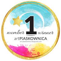 moja kartka wygrała wyzwanie w Art Piaskownica!