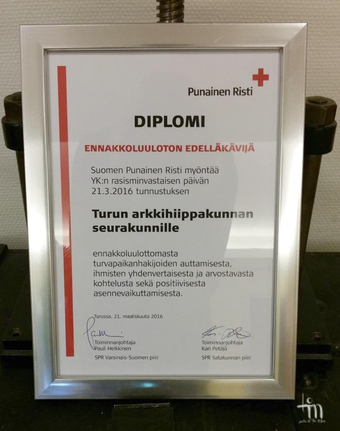 tunnustus turvapaikanhakijoiden auttamisesta