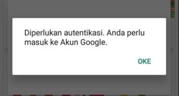 Diperlukan autentikasi. Anda perlu masuk ke Akun Google